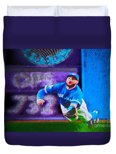 Kevin Pillar In Action II Duvet Cover