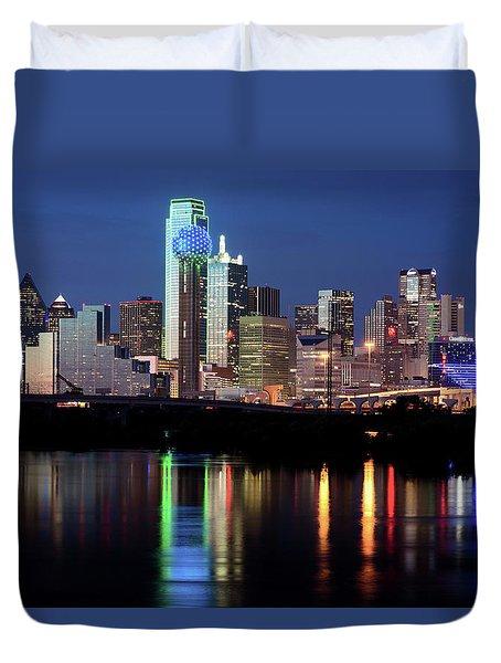 Kevin's Dallas Skyline Duvet Cover