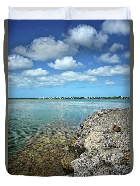 Key Canal Duvet Cover by Kathi Mirto