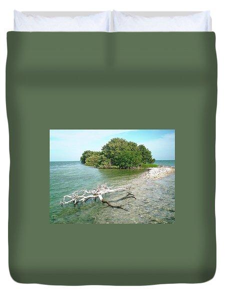 Key Largo Out Island Duvet Cover