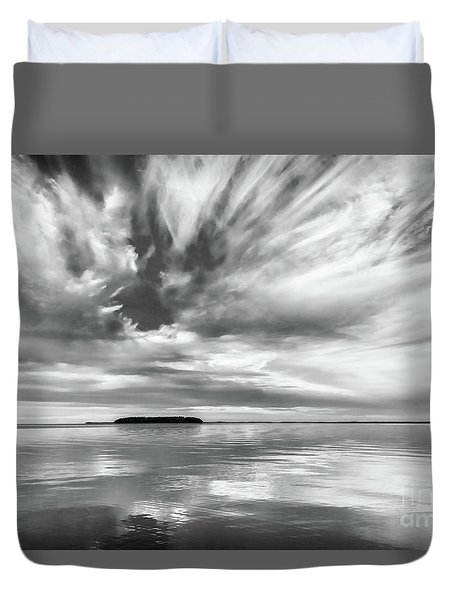 Key Largo Sunset Duvet Cover