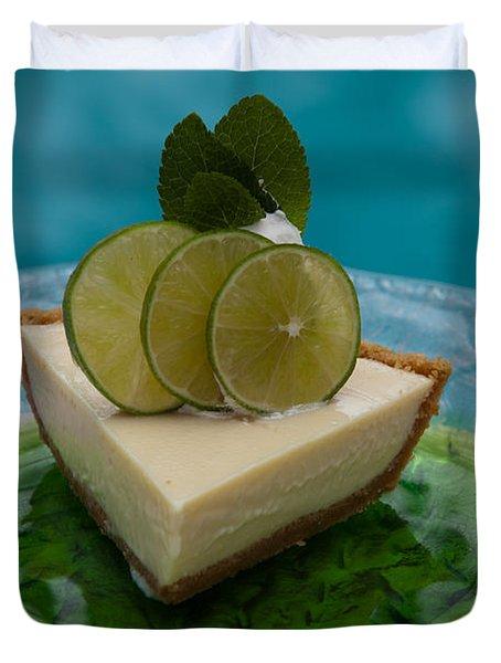 Key Lime Pie 25 Duvet Cover