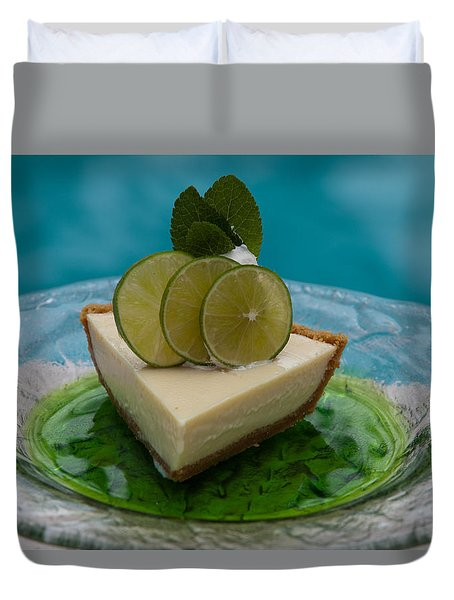 Key Lime Pie 25 Duvet Cover