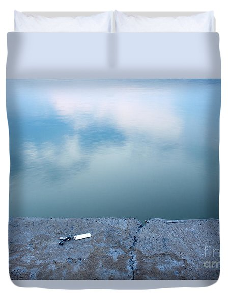 Duvet Cover featuring the photograph Key On The Lake Shore by Odon Czintos