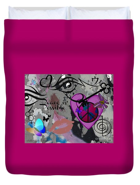Key To Energy Of Peace  Duvet Cover