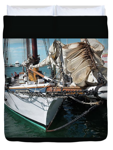 Key West Appledore Sailboat Duvet Cover