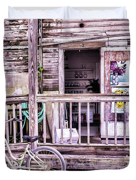 Key West Flower Shop Duvet Cover