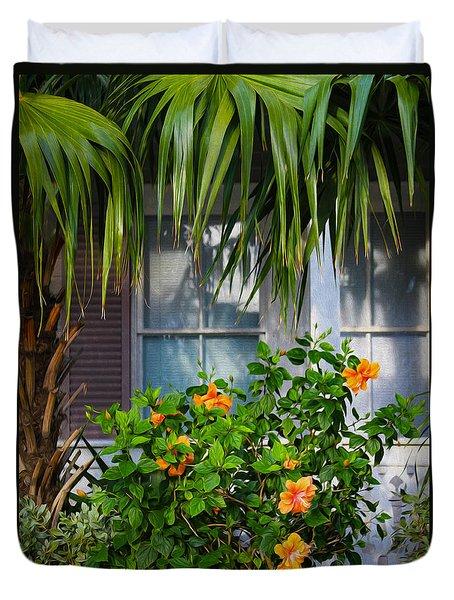 Key West Garden Duvet Cover