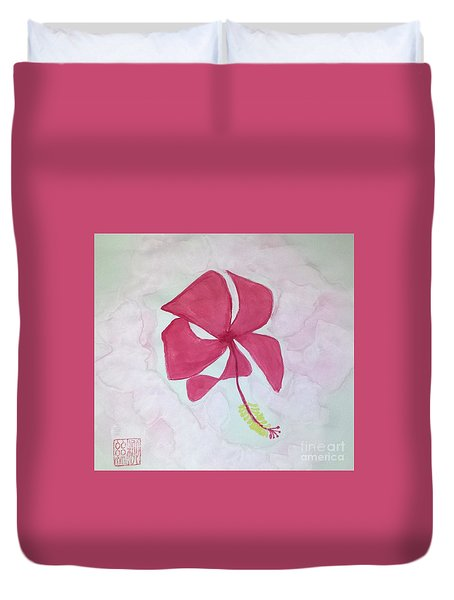 Key West Hibiscus Duvet Cover