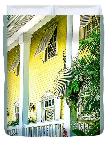 Duvet Cover featuring the photograph Key West Homes 15 by Julie Palencia