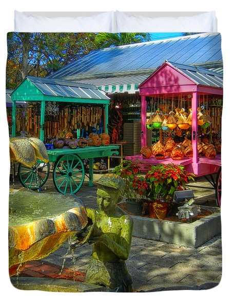 Key West Mallory Square Duvet Cover