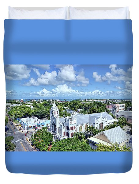 Duvet Cover featuring the photograph Key West by Olga Hamilton
