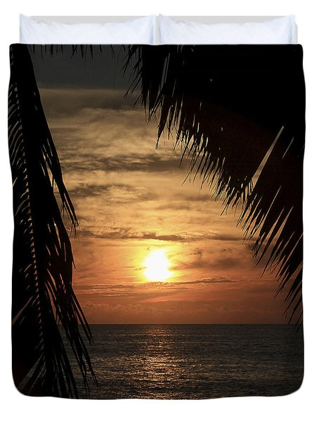 Key West Palm Sunset 2 Duvet Cover