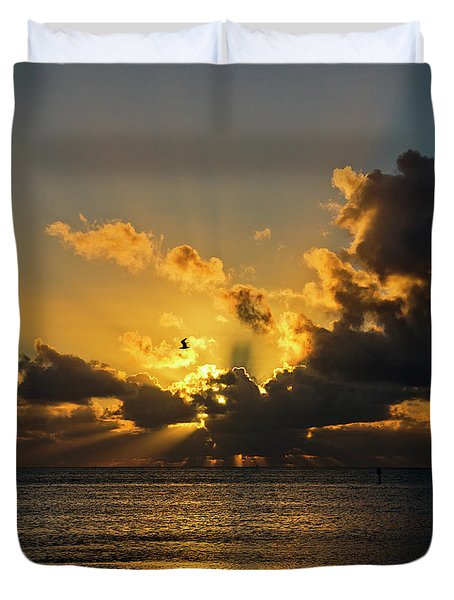Key West Sunrise 39 Duvet Cover