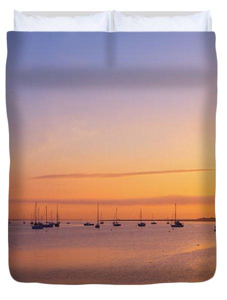 Keyport Harbor Sunrise  Duvet Cover