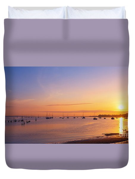 Keyport Harbor Sunrise  Duvet Cover