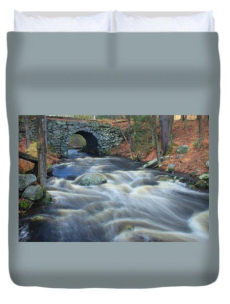 Keystone Bridge Quabbin Reservoir High Water Duvet Cover