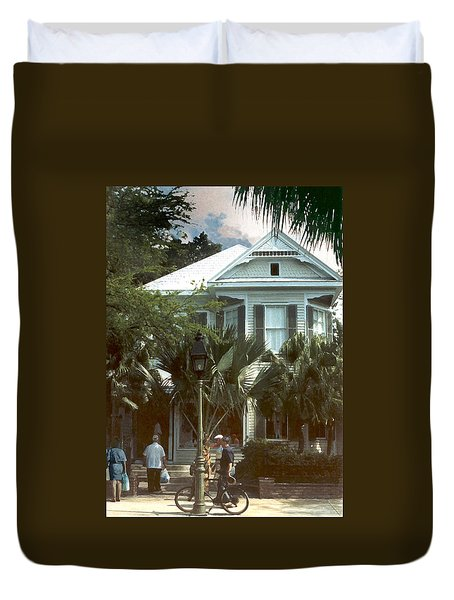 Duvet Cover featuring the photograph Keywest by Steve Karol