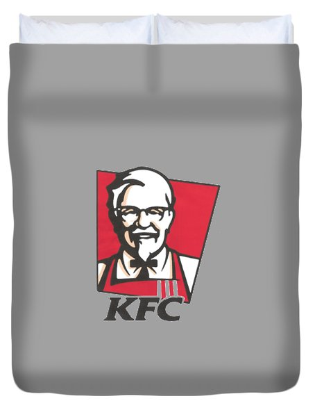 Kfc T-shirt Duvet Cover by Herb Strobino