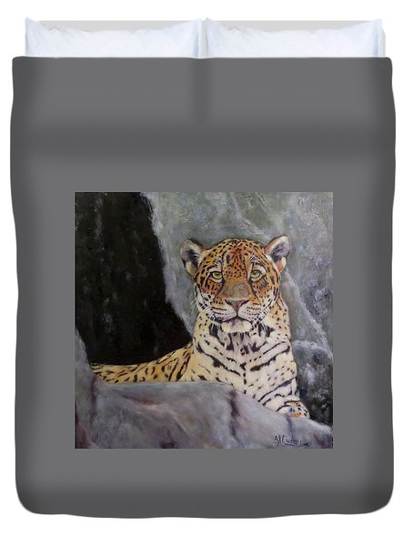 Khensu,  Jaguar Duvet Cover