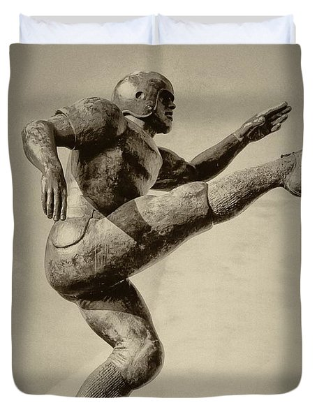 Kick Off Duvet Cover by Bill Cannon