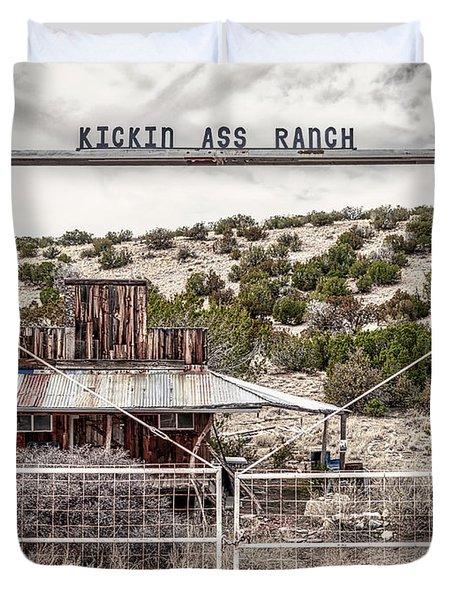 Kickin Ass Ranch Duvet Cover