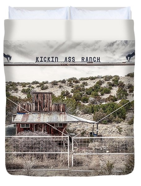Kickin Ass Ranch Duvet Cover