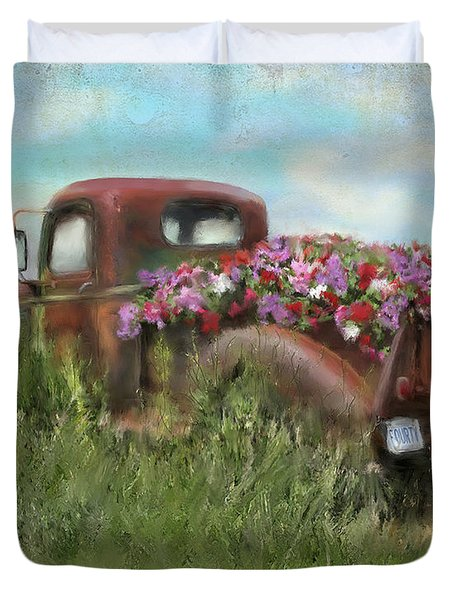 Kicks On Route 66 Duvet Cover by Colleen Taylor