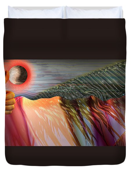 Kids Drumming Duvet Cover