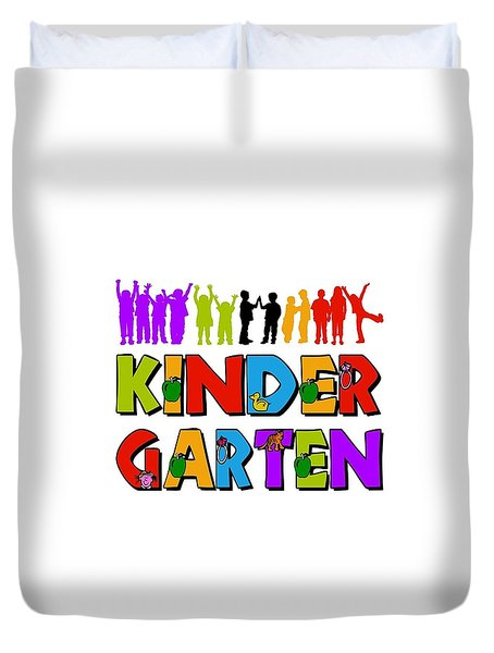 Kids Kindergarten Duvet Cover