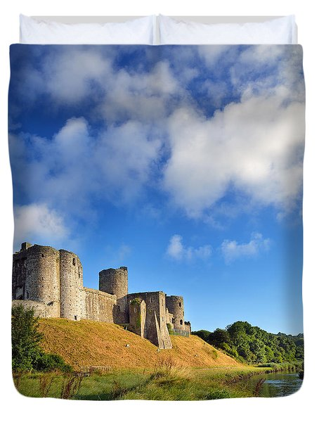 Kidwelly Castle 1 Duvet Cover