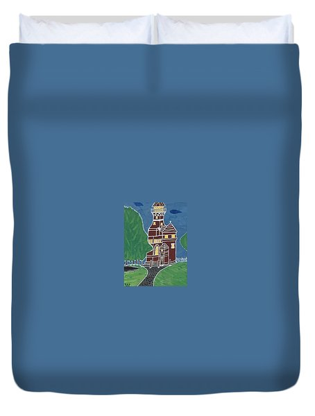 Kiel Germany Lighthouse. Duvet Cover
