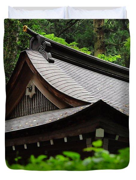 Kifune Shrine Duvet Cover by Stevyn Llewellyn