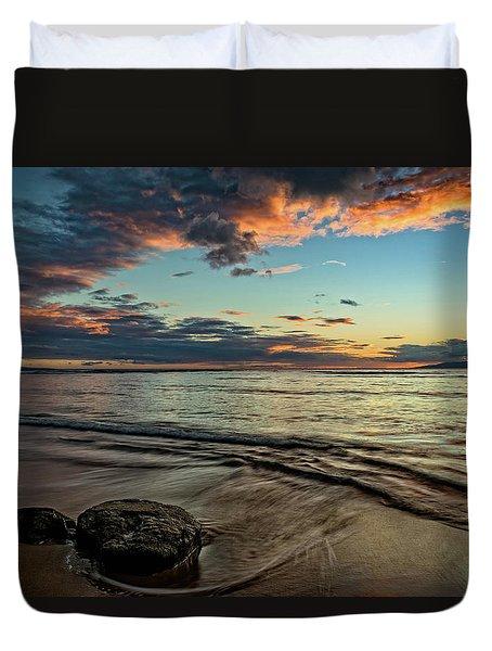Kihei, Maui Sunset Duvet Cover