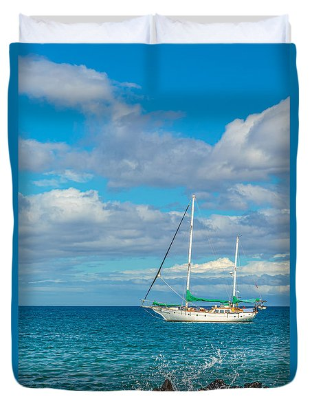 Kihei Sailboat 4 Duvet Cover