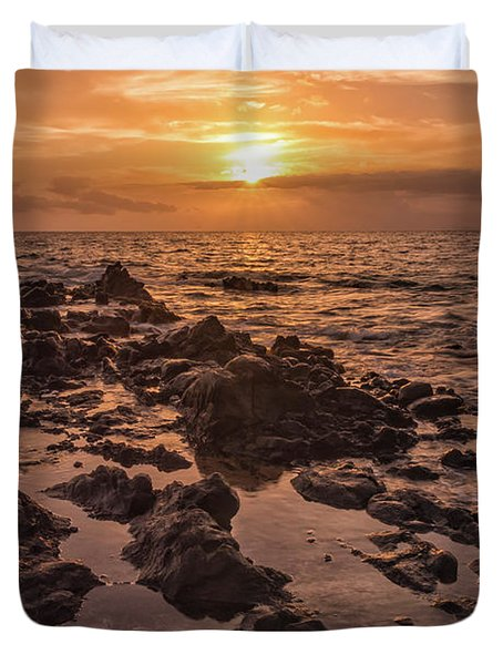 Kihei Sunset 2 - Maui Hawaii Duvet Cover by Brian Harig