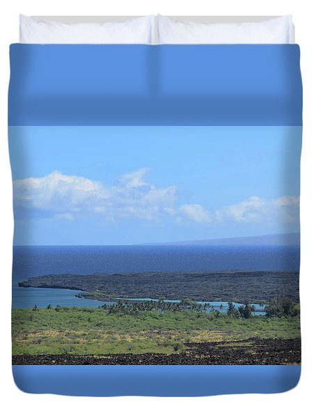 Duvet Cover featuring the photograph Kiholo by Pamela Walton