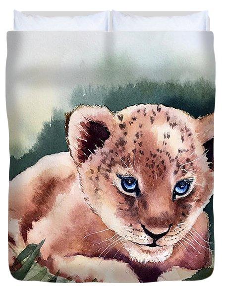 Kijani The Lion Cub Duvet Cover