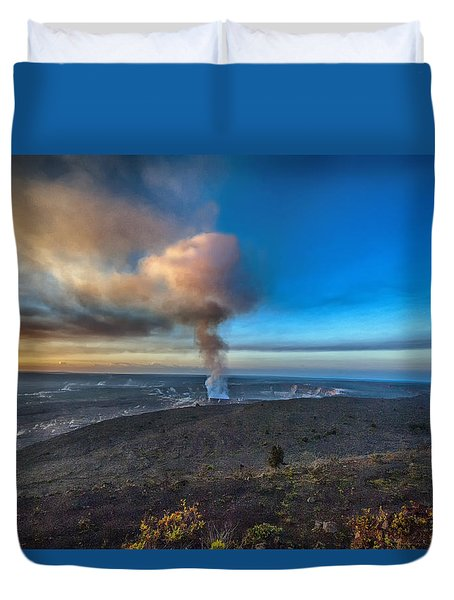Kilauea Caldera Duvet Cover by Lynn Andrews