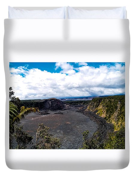 Kilauea Caldera Duvet Cover