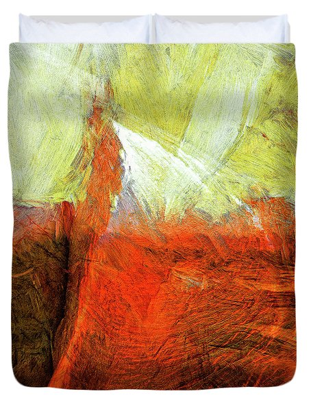 Duvet Cover featuring the painting Kilauea by Dominic Piperata