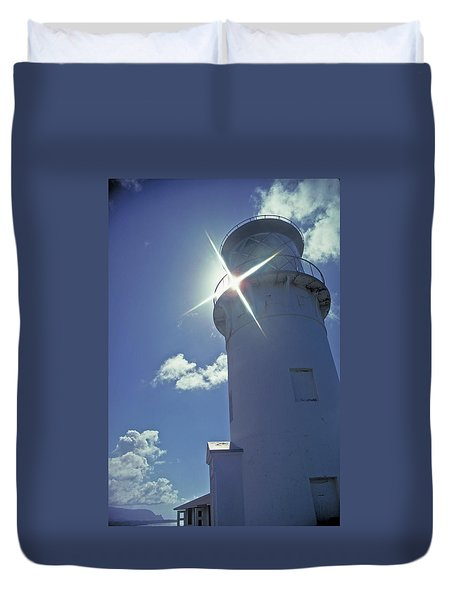 Duvet Cover featuring the photograph Kilauea Lighthouse by Marie Hicks