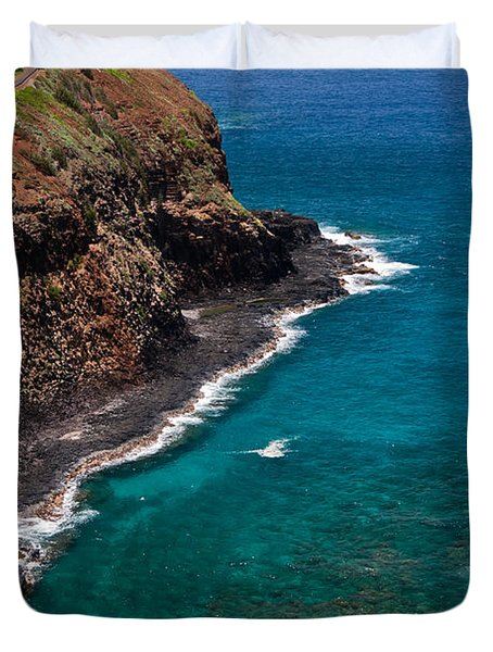 Kilauea Lighthouse Duvet Cover by Roger Mullenhour