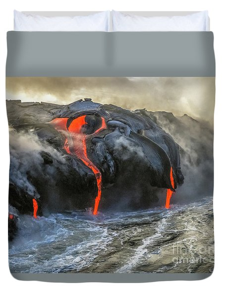 Kilauea Volcano Hawaii Duvet Cover