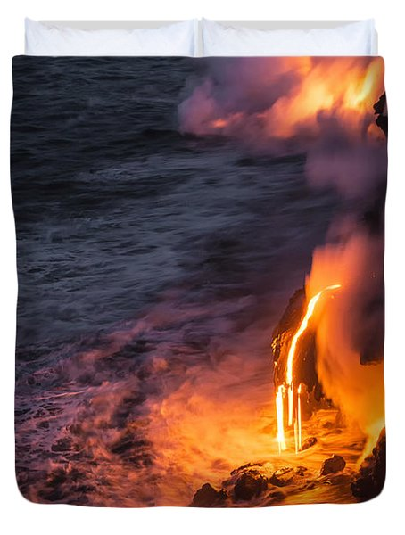 Kilauea Volcano Lava Flow Sea Entry 6 - The Big Island Hawaii Duvet Cover