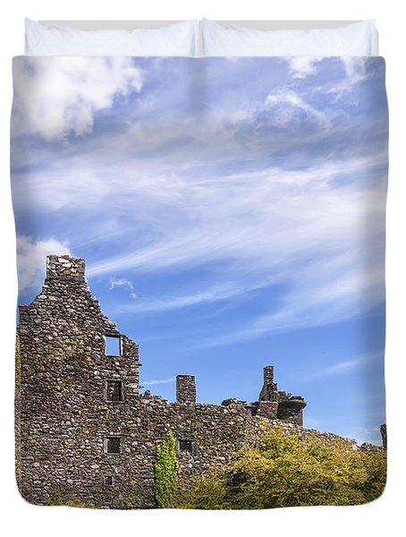 Kilchurn Castle Scottish Ruin Duvet Cover
