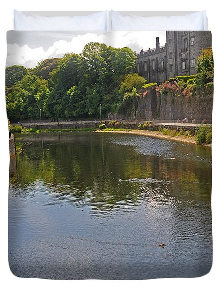Kilkenny Castle And River Nore Duvet Cover