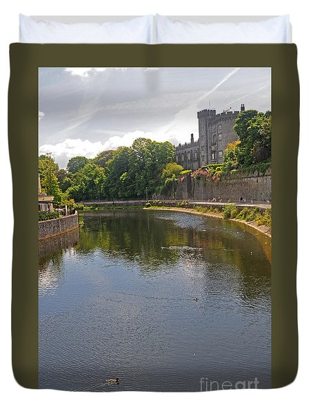 Kilkenny Castle And River Nore Duvet Cover by Cindy Murphy - NightVisions