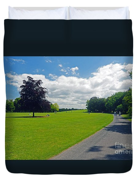 Kilkenny Castle Grounds Duvet Cover by Cindy Murphy - NightVisions