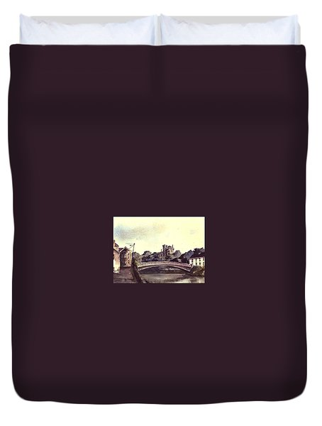 Kilkenny Castle On The Nore River. Duvet Cover